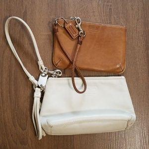 Coach Bundle of Leather Wristlet Wallets